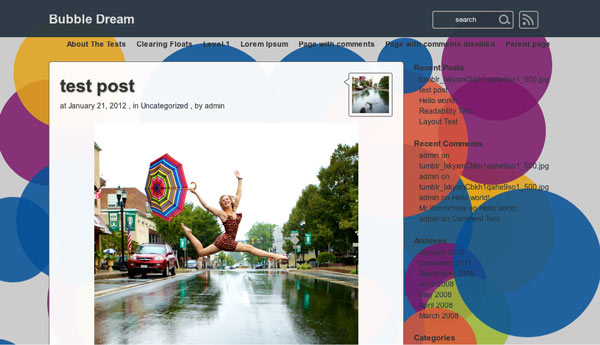 wordpress-theme-BubbleDream-screenshot